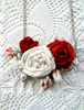 Picture of White & Red Roses Necklace