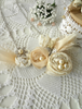 Picture of Beige Sateen & Lace Rose Necklace