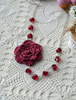 Picture of Burgundy Irish Rose Necklace
