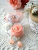 Picture of Peach and White Rose Brooch