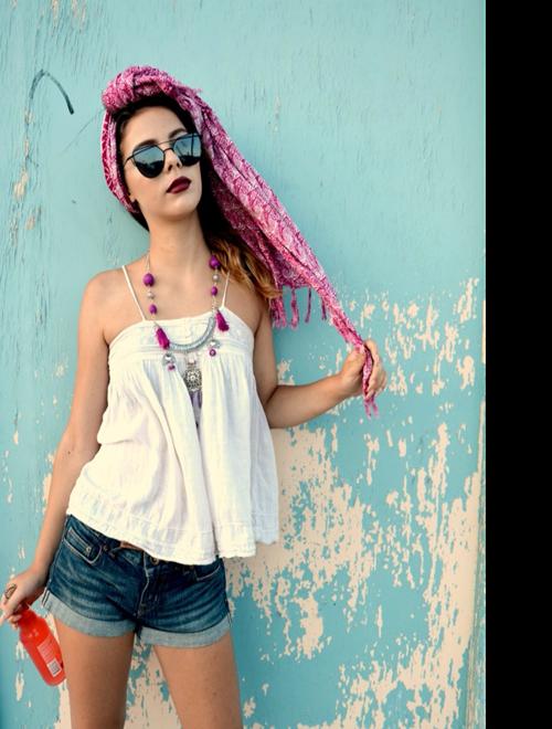 Picture of Purple Bohemian Necklace - Moroccan Dreams