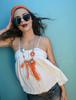 Picture of Orange Tassel & Fringe  Necklace