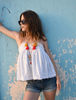 Picture of Red & Mustard Tassel Necklace