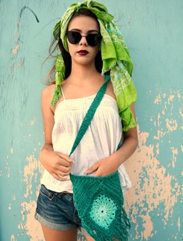 Picture of Green Boho Shoulder Bag