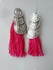 Picture of Tassel Boho Earrings in Pink