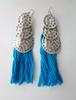 Picture of Tassel Boho Earrings in Blue
