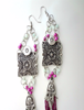 Picture of Romantic Boho Earrings in Purple