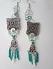 Picture of Romantic Boho Earrings in Green