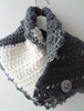 Picture of Grey & White Chunky Scarflette
