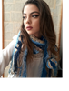 Picture of Bohemian Crochet Scarf in Blue