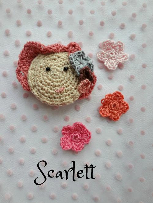 Picture of Crochet  Brooch: Scarlett