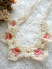 Picture of An Ecru Pink  Crochet Necklace