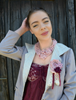 Picture of A Crochet Collar Rose Necklace  - The Victoriana Collection