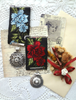 Picture of A Fashion Ribbon Medal: Blue Roses - Victoriana Collection