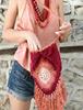 Picture of Burgundy & Sherbet Mandala Bag