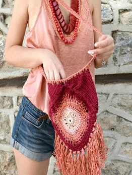 Picture of Burgundy & Sherbet Mandala Bag