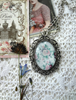 Picture of Cabochon Pendant Necklace: Dusty Roses
