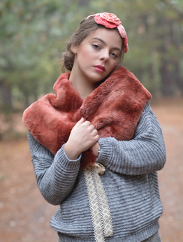 Picture of Faux Fur Mori Collar