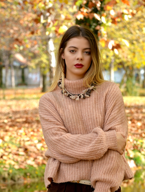 Picture of Grey  Autumn - crochet necklace and earrings